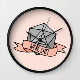 Well, Shit D20 Wall Clock
