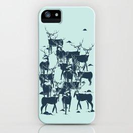 bucks in the snow iPhone Case