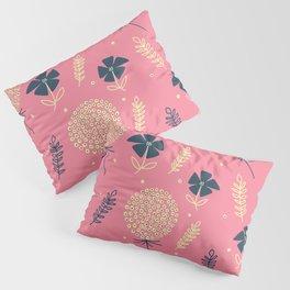 flower pattern spring leaves Pillow Sham