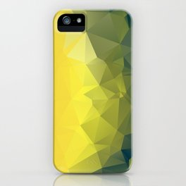 YELLOW AND KHAKI LOWPOLY iPhone Case