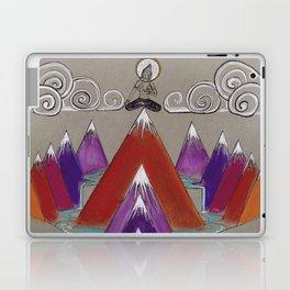 Mountain Meditation — Yogi Goddess Illustration Laptop & iPad Skin