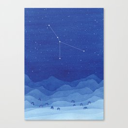 Cancer constellation, mountains Canvas Print