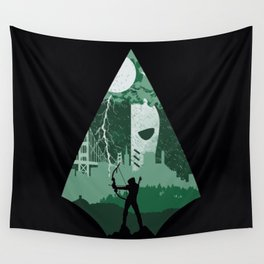 Arrow green Wall Tapestry