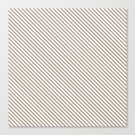 Warm Taupe Stripe Canvas Print