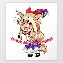 Suika Drinks Responsibly  Art Print