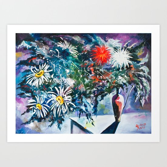 Flowered Expression Art Print