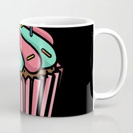 Sweet Cupcake With A Blue & Pink Swirl Icing Gift Coffee Mug