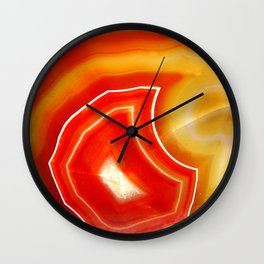 Orange Agate Wall Clock
