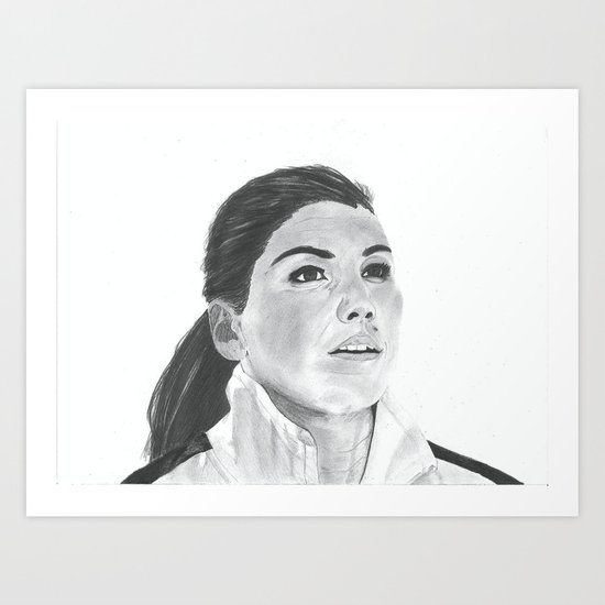 Hope Solo Art Print