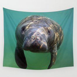 Little Manatee Wall Tapestry