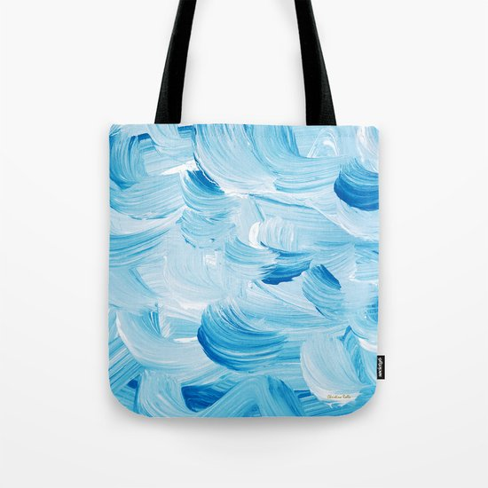 Aqua Abstract Tote Bag
