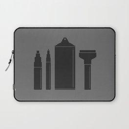 Art Supplies Grey Laptop Sleeve