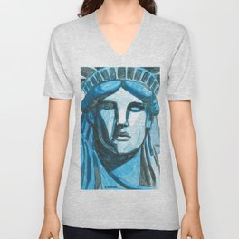 Lady Liberty - I'm With Her Unisex V-Neck