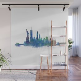 NY New York City Skyline NYC Watercolor art Wall Mural