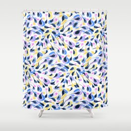 Watercolor abstract pattern pattern Shower Curtain