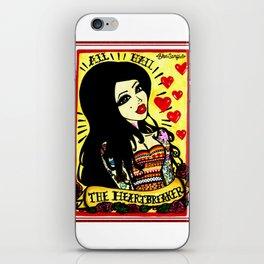 Queen of hearts print. iPhone Skin