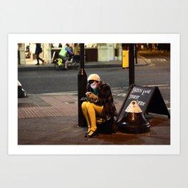 Lady in Yellow - Brick Lane, London Art Print