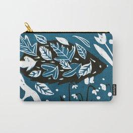 Hedgehog - Petrol Blue Palette Carry-All Pouch