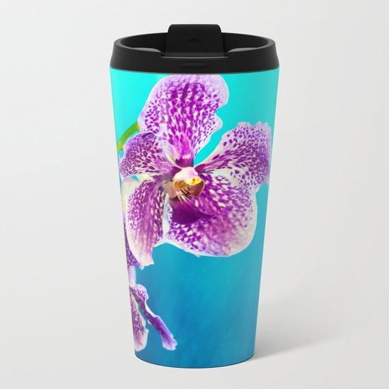 Tropical Blue 3 Metal Travel Mug