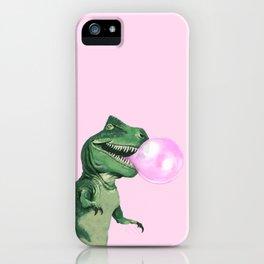 Bubble gum T-Rex in Pink iPhone Case
