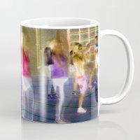 sport Mugs featuring Sport by Egle Tuleikyte