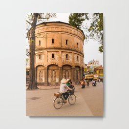 Hanoi Water Tower, Vietnam Metal Print