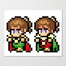 Final Fantasy II - Palom and Porom Canvas Print