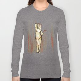 She Grieves, Standing Nude Long Sleeve T-shirt