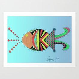 the tamborin fish or puffer fish Art Print
