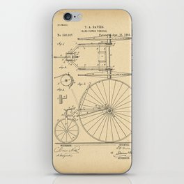 1884 Patent Bicycle Velocipede iPhone Skin