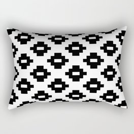 Black and White Woven Diamonds Rectangular Pillow