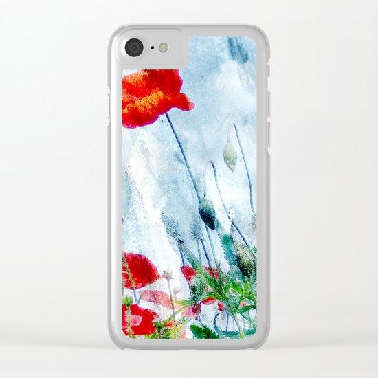 Poppy Love III Clear iPhone Case