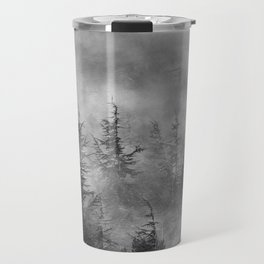 Misty forest. BW Travel Mug