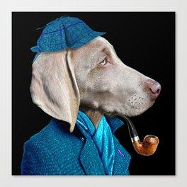 Dog Sherlock Holmes Canvas Print