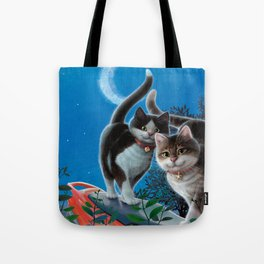 """Mosky Cat """"First love"""" Tote Bag"""