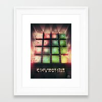 chvrches Framed Art Prints featuring Chvrches - 80's Style by Derek Brown