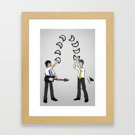 Tambourine Toss Framed Art Print