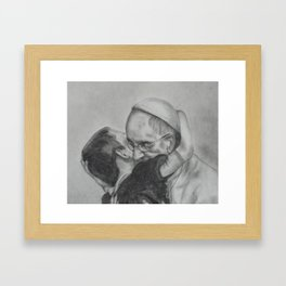 Pope Francis - Showing Us How To Love 2 Framed Art Print