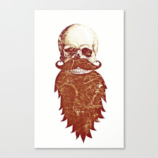 Beard Skull 2 Canvas Print