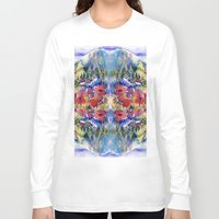 africa Long Sleeve T-shirts featuring Africa by CrismanArt