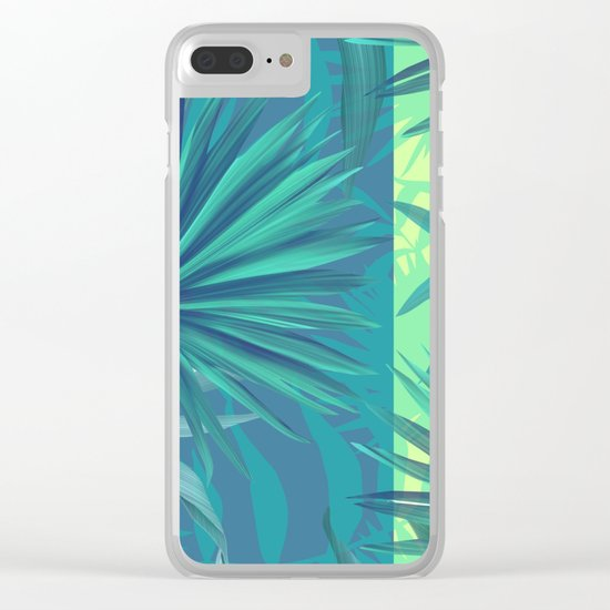 soft tropic Clear iPhone Case