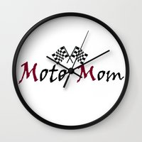 moto Wall Clocks featuring Moto Mom by Risdon & Associates