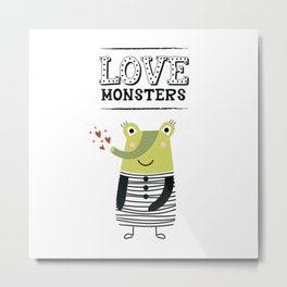 LOVE Monsters Metal Print