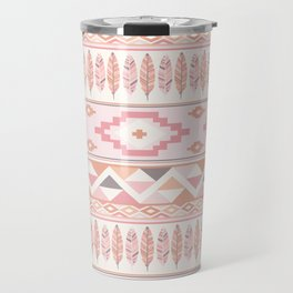 Pink Boho Tribal Aztec Travel Mug