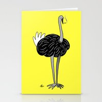 ostrich Stationery Cards featuring Ostrich? by Annadiplosis