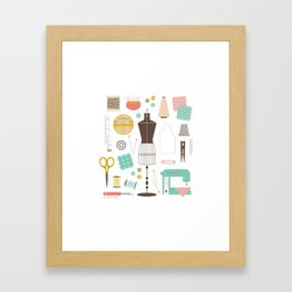 In My Sewing Closet Framed Art Print