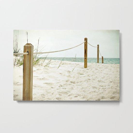 down to the beach Metal Print