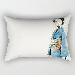 青い着物の女 Rectangular Pillow