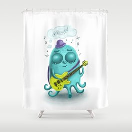 Musical octopus Shower Curtain