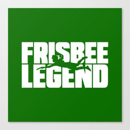 Frisbee Legend Canvas Print